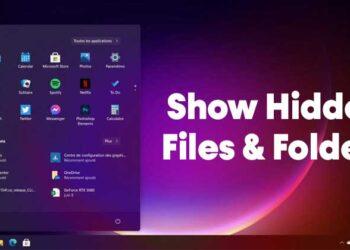 How to Show Hidden Files & Folders in Windows 11