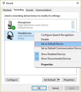 Method 2: Make your headphones the default device on your computer